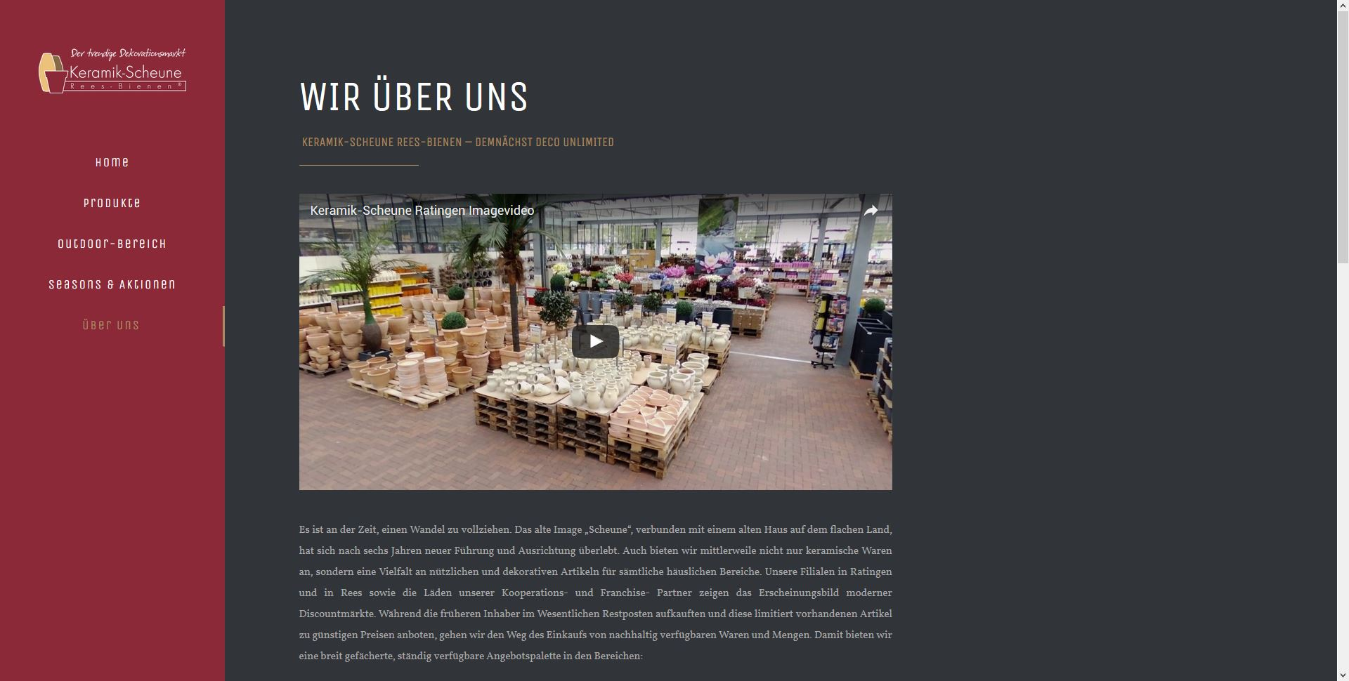 webdesign ratingen referenz keramik scheune